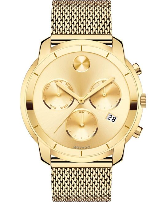 Movado Bold Swiss Gold-Tone Men's Watch 44mm