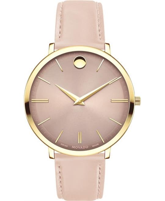 dong ho Movado Ultra Slim Sunray Dial Ladies Watch 35mm