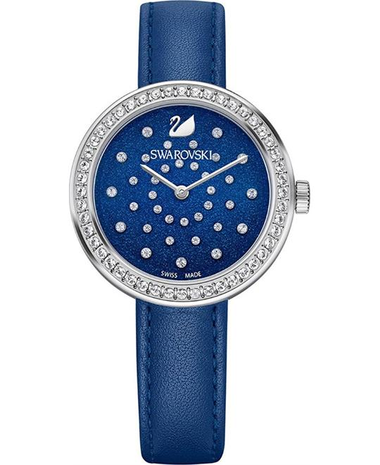 SWAROVSKI DAYTIME BLUE CRYSTAL WATCH 34mm