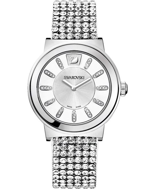 Swarovski Women's Silver Leather Swiss Quartz Watch 36mm