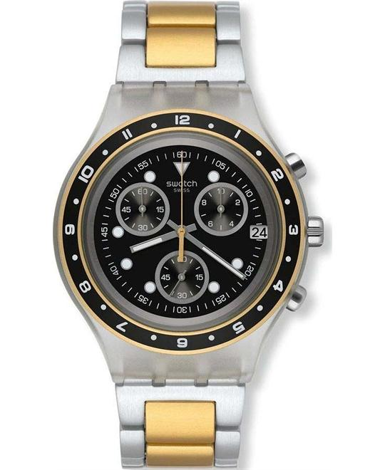 Swatch Men's Irony Diaphane Two-Tone Watch, 43mm