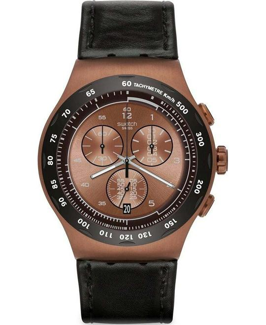 Swatch The Copper Chronograph Mens Watch 45mm