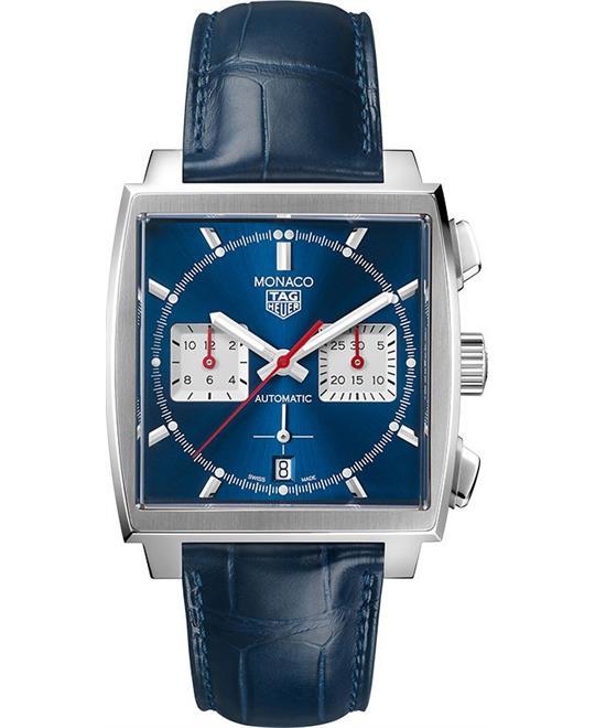 đồng hồ mặt vuông thể thao Tag Heuer Monaco CBL2111.FC6453 Calibre Watch 39mm