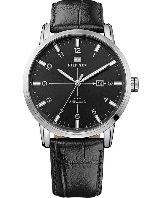 Tommy Hilfiger Men's Black, 44mm
