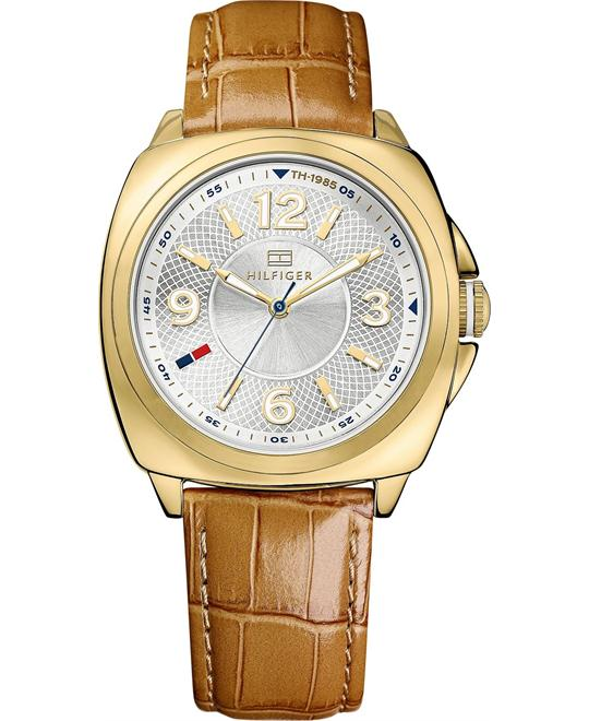 Tommy Hilfiger Women's Camel Leather Strap 38mm