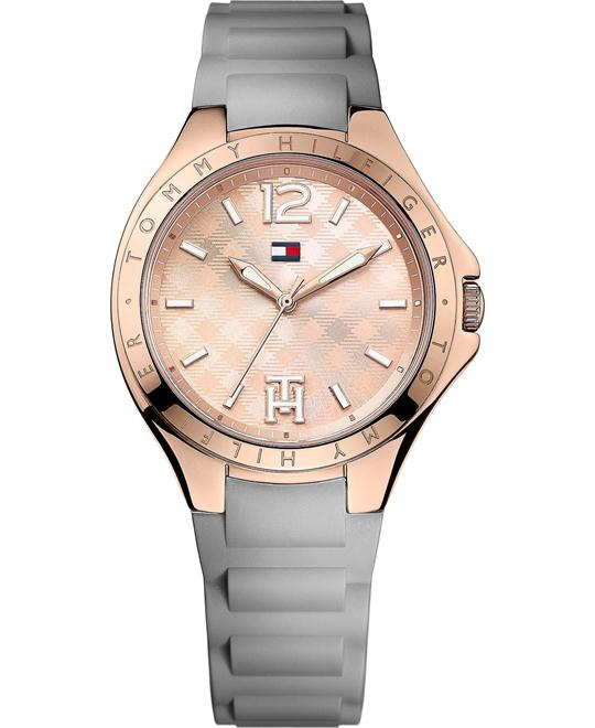 Tommy Hilfiger Women's Gray Silicone Strap Watch 38mm