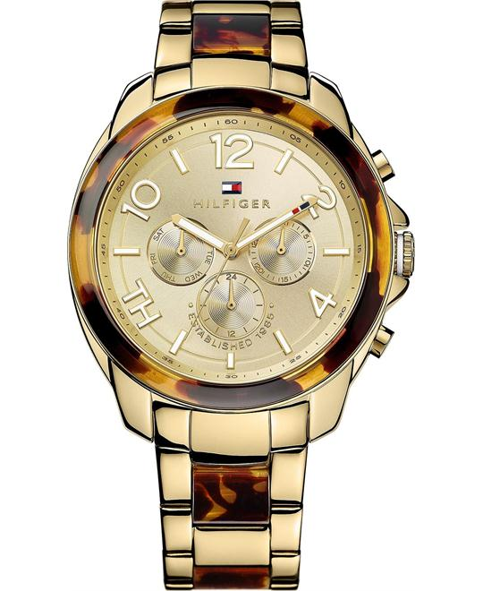 Tommy Hilfiger Women's Tortoise and Gold 42mm