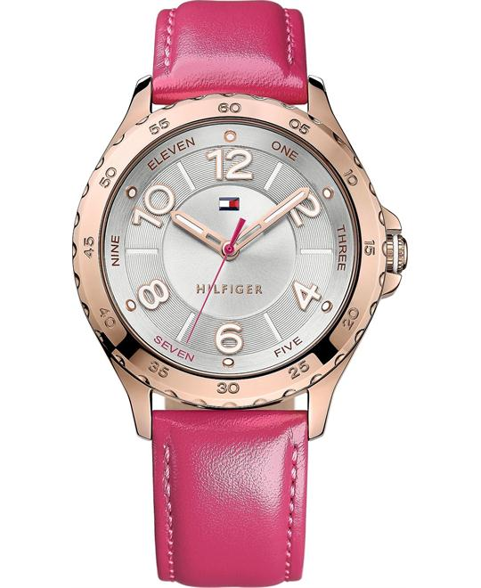 Tommy Hilfiger Women's Pink Leather 40mm