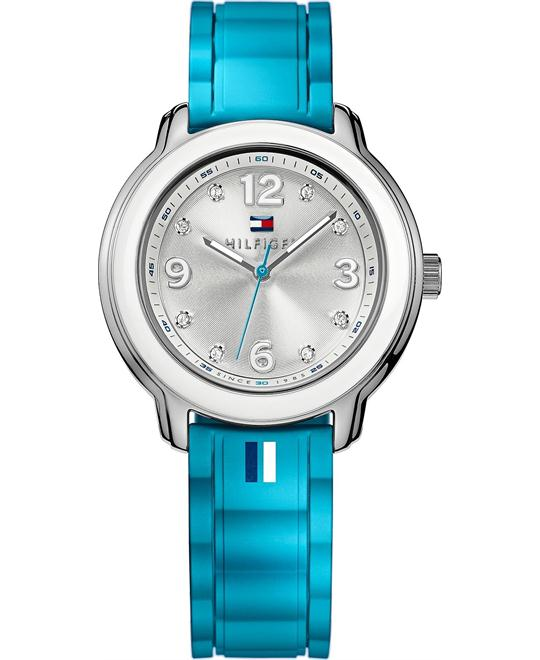 Tommy Hilfiger Women's Turquoise Silicone 36mm
