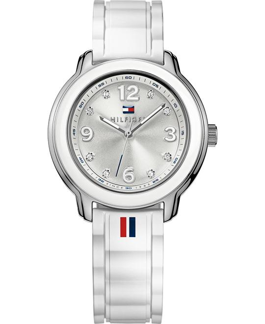 Tommy Hilfiger Women's White Silicone 36mm
