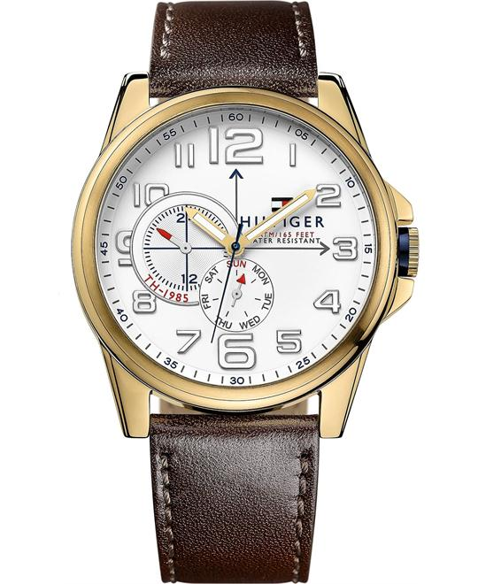 Tommy Hilfiger Men's Brown Leather 46mm