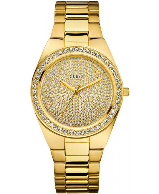 GUESS Sporty Radiance Watch, Gold 39mm