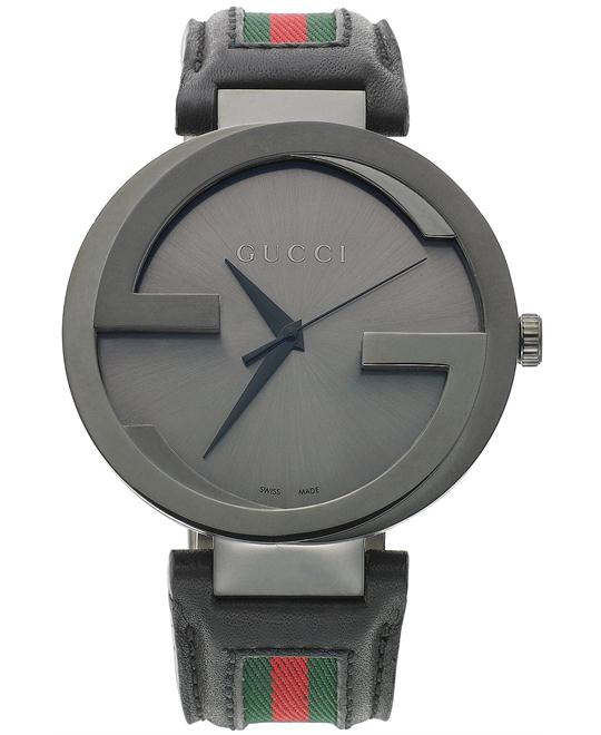 Gucci Interlocking  Green Leather watch 42mm