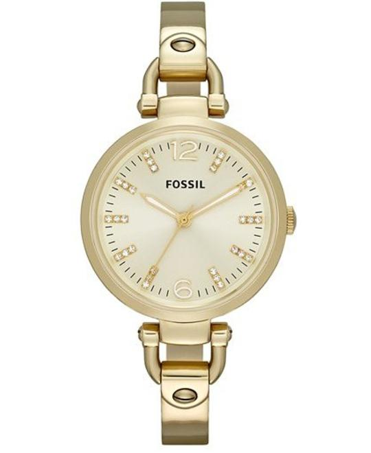 Fossil Georgia Three Hand Watch - Gold-Tone 32mm