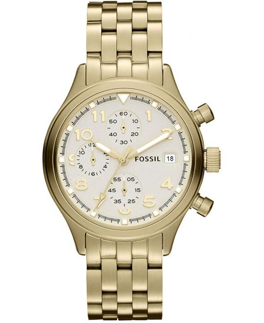 Women's Chronograph Compass Gold-Tone Stainless Steel Bracelet 38mm