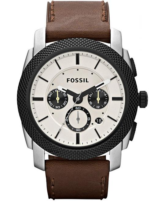 Fossil Men's  Leather Strap 45mm