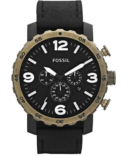 Fossil Men's Leather Watch 50mm
