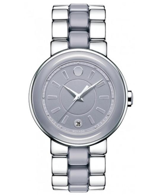 Movado Cerena Smoky Lilac Ceramic Ladies Watch 36mm