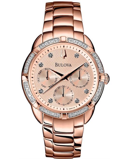 Bulova Women's Diamond Gold Watch 36mm
