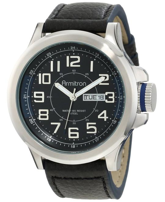 Armitron Men's Blue Leather Strap Watch 45mm