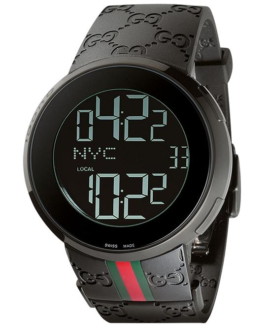 Gucci I-Gucci   Men's Collection Rubber Strap watch 44mm