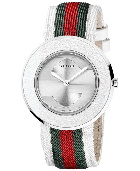 Gucci U-pay  Women's Red & White Nylon watch 35mm