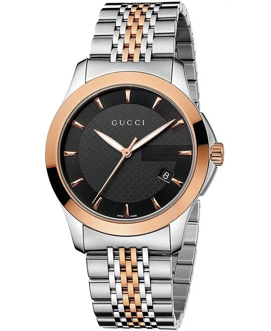 GUCCI Timeless Red Gold PVD Watch 38mm