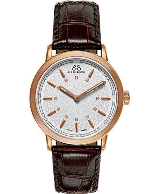 88 Rue du Rhone Double 8 Origin Rose Watch 35mm