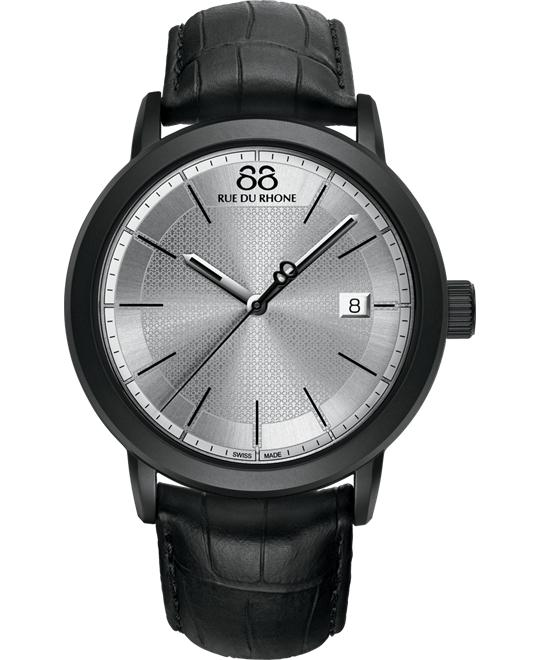 88 Rue du Rhone Men's Swiss black leather alligator 45mm