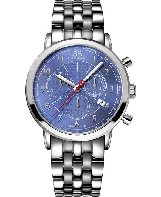 88 Rue du Rhone Men's Swiss Chrono Watch 42mm