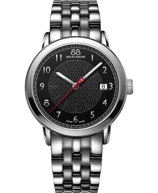 88 Rue du Rhone Swiss Quartz Black Watch 39mm