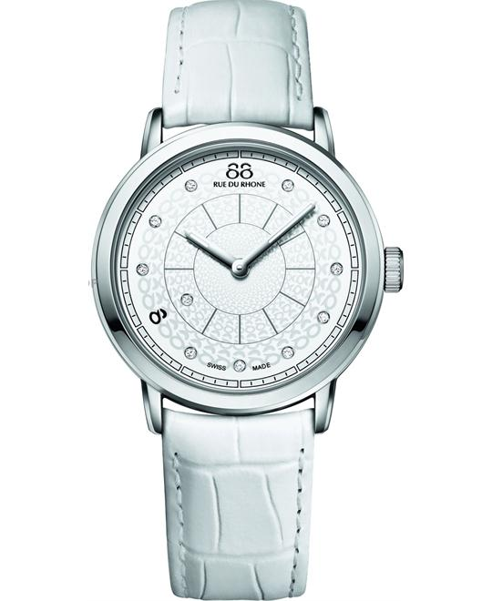88 Rue du Rhone Women's  Swiss Quartz Diamond Watch 35mm