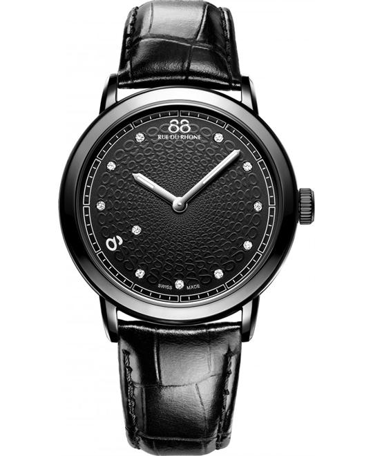 88 Rue du Rhone Women's Quartz Black Watch 39mm