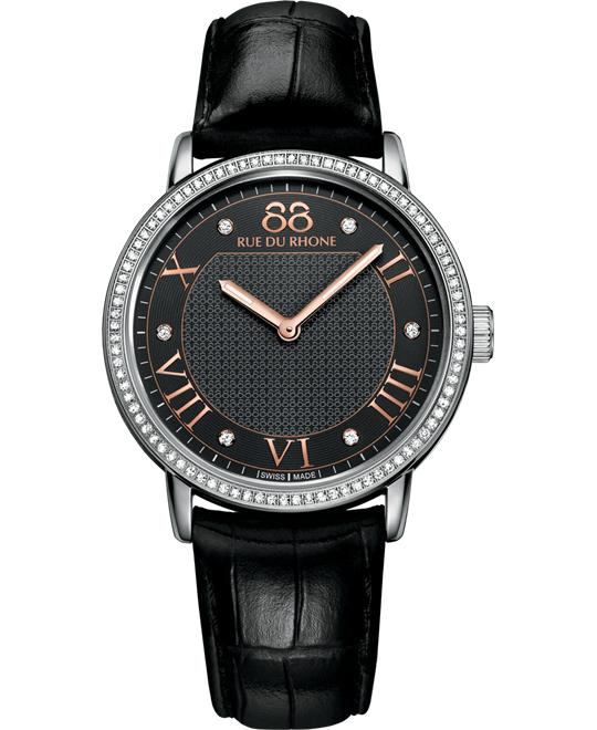 88 Rue du Rhone Women's Swiss 88 diamonds alligator 35mm
