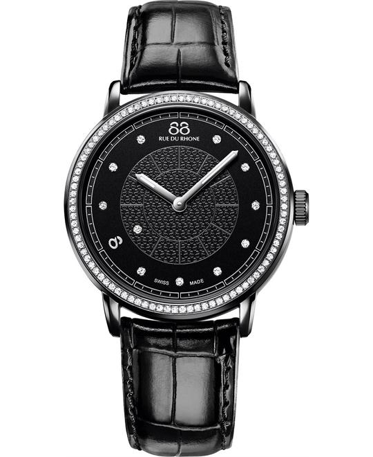 88 Rue du Rhone Women's Swiss 88 diamonds Watch 35mm