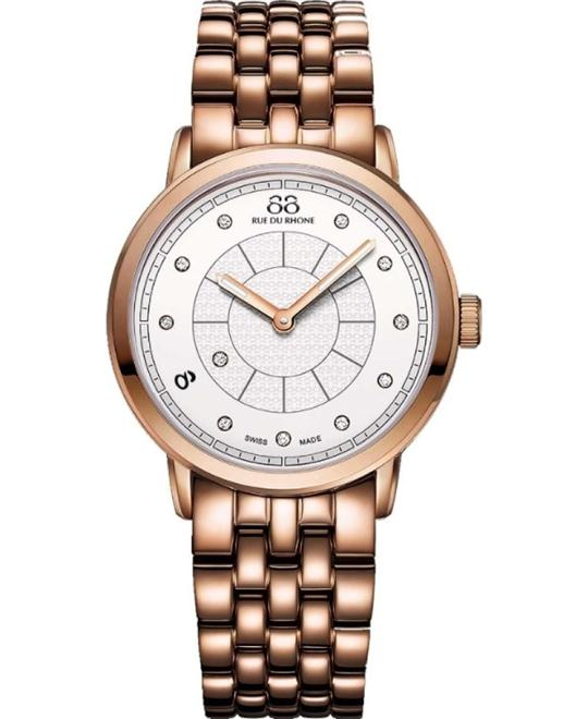 88 Rue du Rhone Women's  Swiss Quartz Gold Watch 35mm