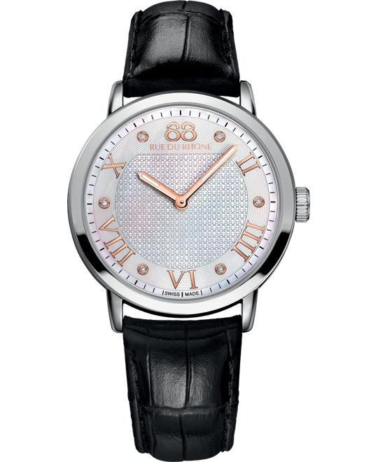 88 Rue du Rhone Women's Swiss Roman leather alligator 35mm