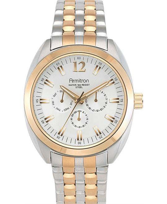 Amitron Men's Rose Gold-Tone Watch, 46.5mm