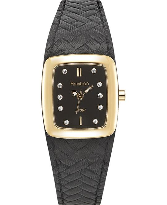 Amitron Women's Gold-Tone Black Watch, 23mm