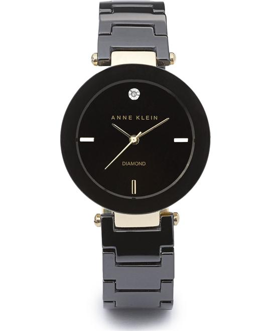ANNE KLEIN CERAMIC LINK BRACELET WATCH 30MM