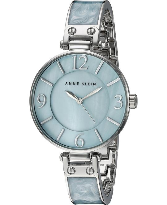 Anne Klein Light Blue Marbleized Watch 34mm