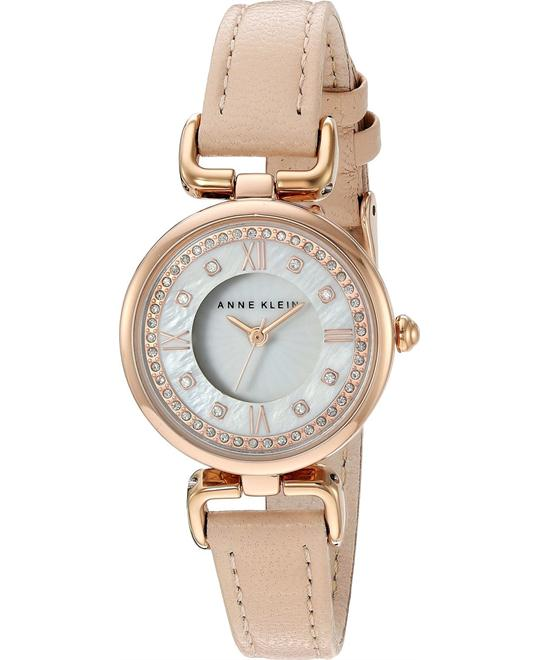 Anne Klein Metal and Leather Dress Watch 28mm