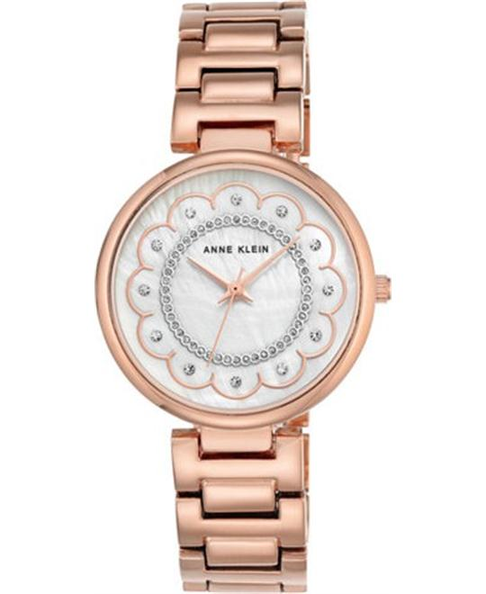 ANNE KLEIN Mother of Pearl Dial Ladies Watch 34mm