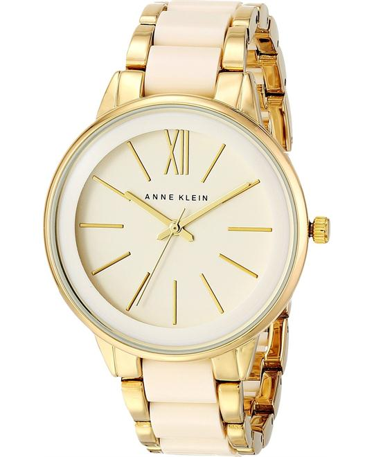 Anne Klein Gold-Tone and Ivory Resin Watch 37mm
