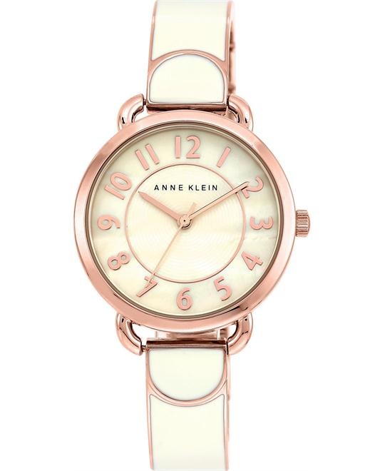 Anne Klein Women's Ivory-Colored Rose Gold-Tone Watch 32mm