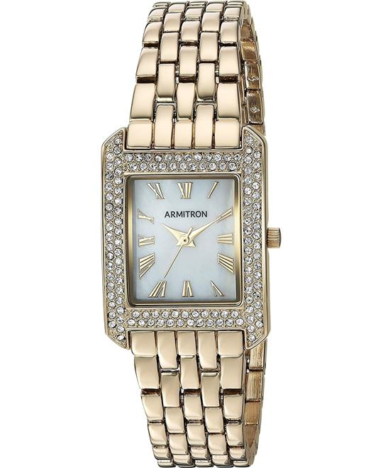 Armitron Crystal Accented Gold-Tone Bracelet Watch 23mm