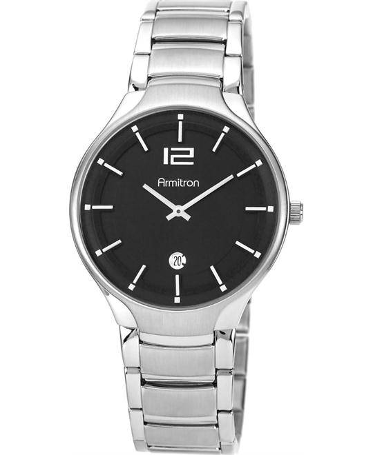 Armitron Men's Stainless Steel Silver-Tone Watch 41mm