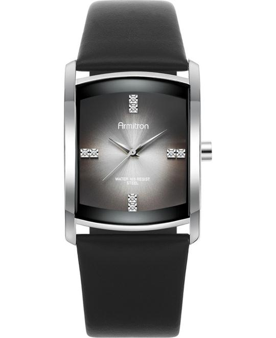 Armitron Men's Swarovski Black Watch, 33mm
