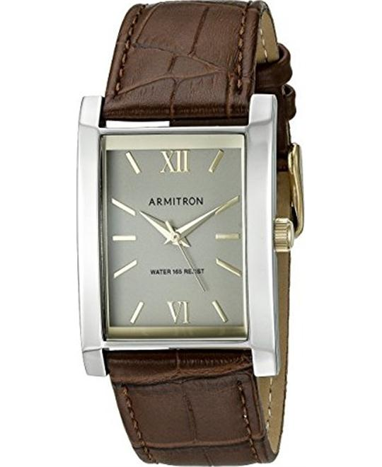 Armitron Rectangular Shaped Brown Men's Watch 33mm