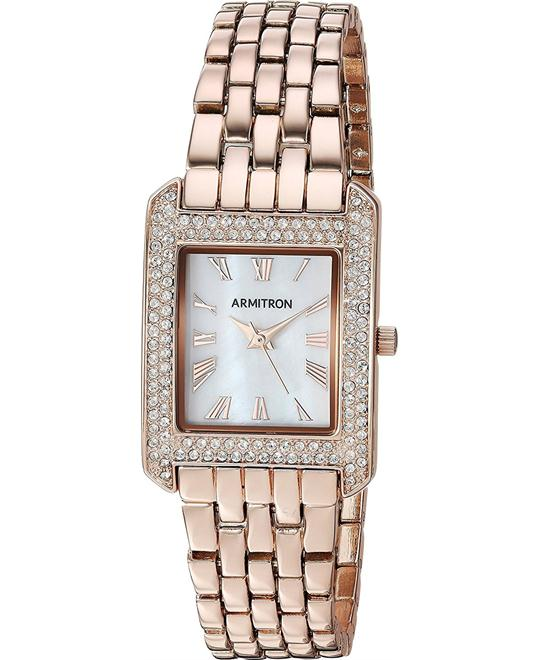 Armitron  Crystal Accented Rose Gold-Tone Bracelet Watch 23mm